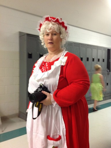 Mrs. Hughes as Little Red Riding Hood's Grandma