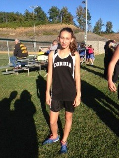 Asha Gonzales--our only Girls Cross Country Runner